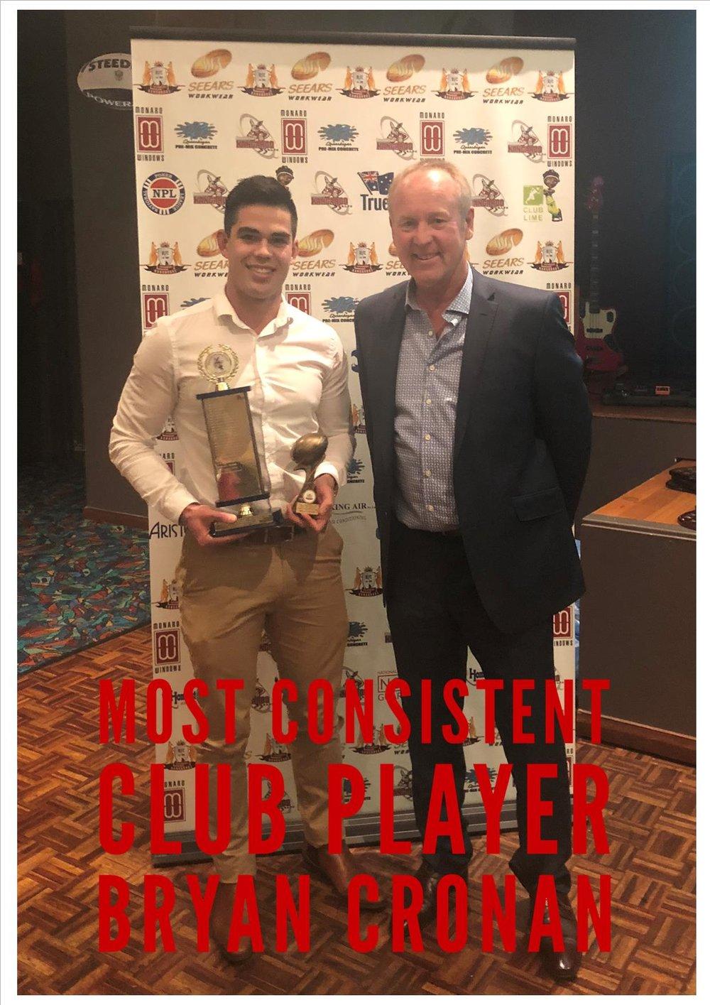 Bryan Cronan Most Consistent Club.jpg