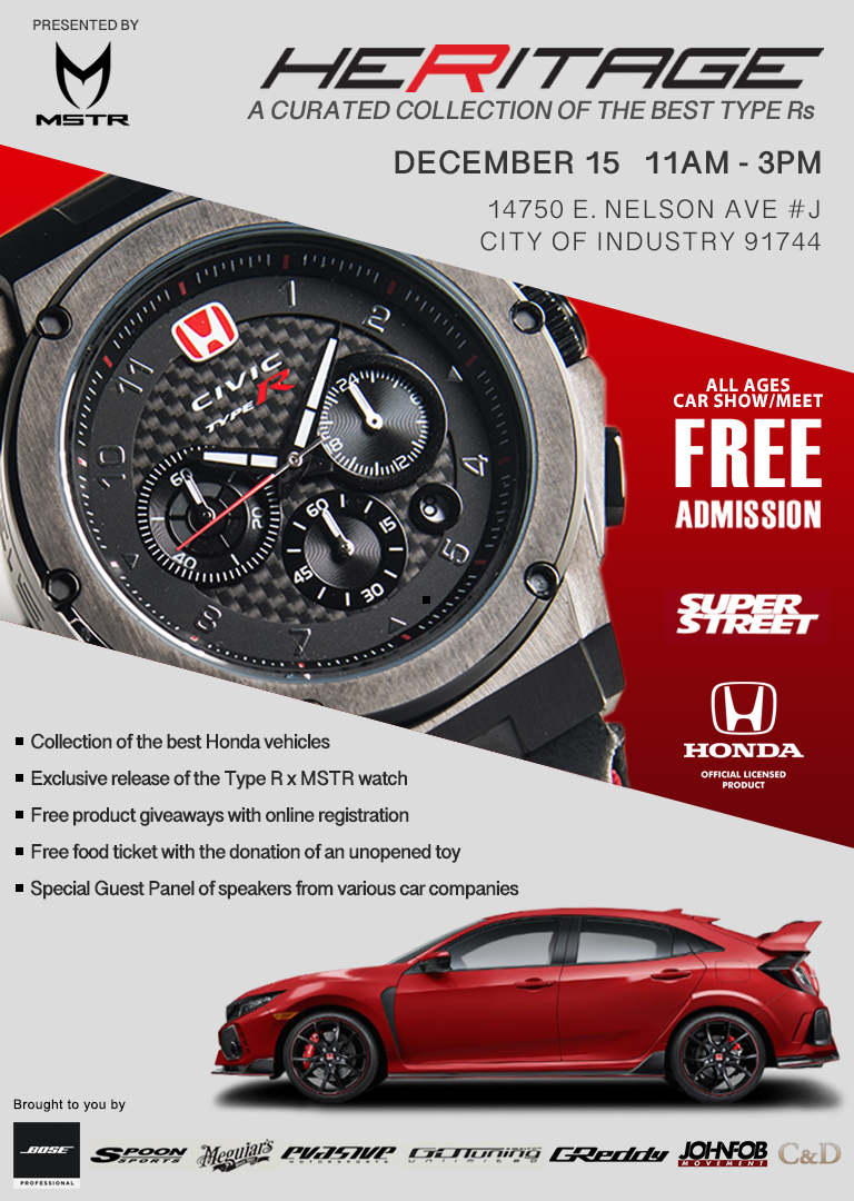 Meister x Honda December 2018    Meister Watches, Honda, Bose Professional, Colure and Diamond