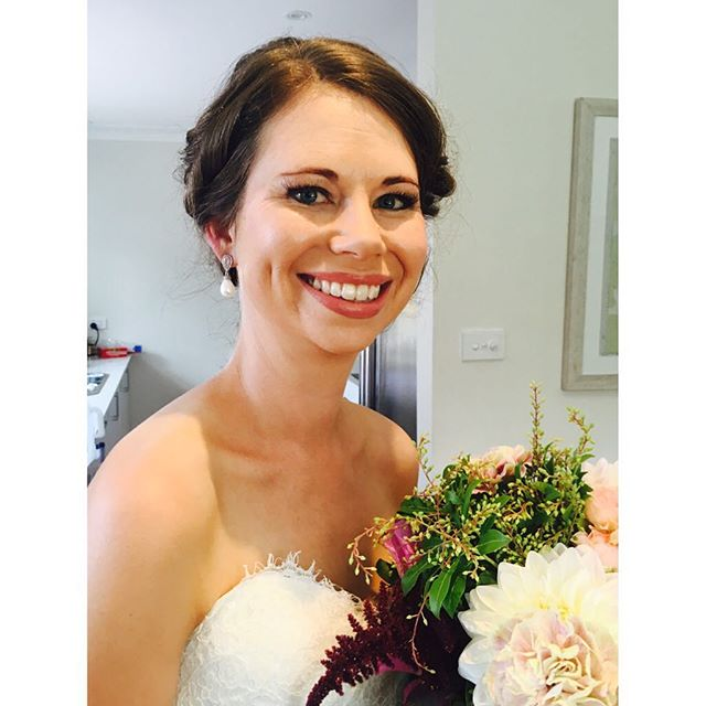Beautiful Kate getting married today @stisidoremilton . Makeup & hair done by Belle Allure  #belleallurebridal #bellealluremakeup #junerosebridalmakeupandhair #southcoastbridalhair #mollymookwedding