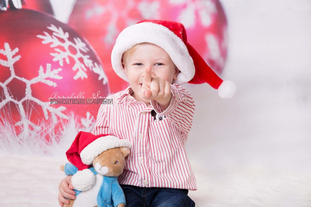 And here is Samuel now with Peter Rabbit wearing his hat from his baby shoot!