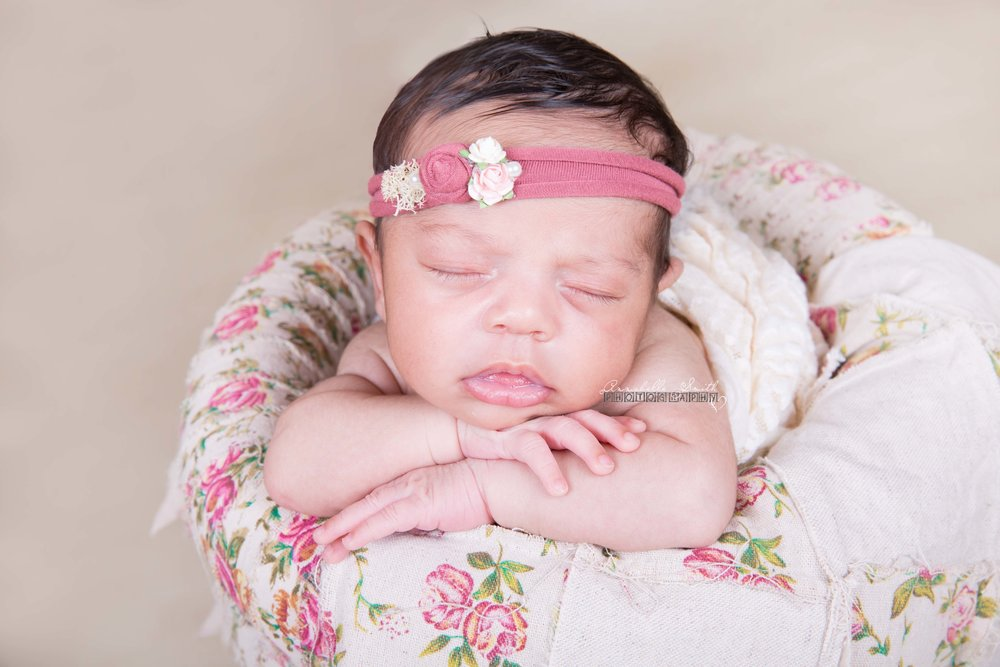 Newborn photography pink and floral walton on thames.jpg