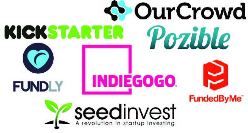 Just a small selection of the crowdfunding platforms available
