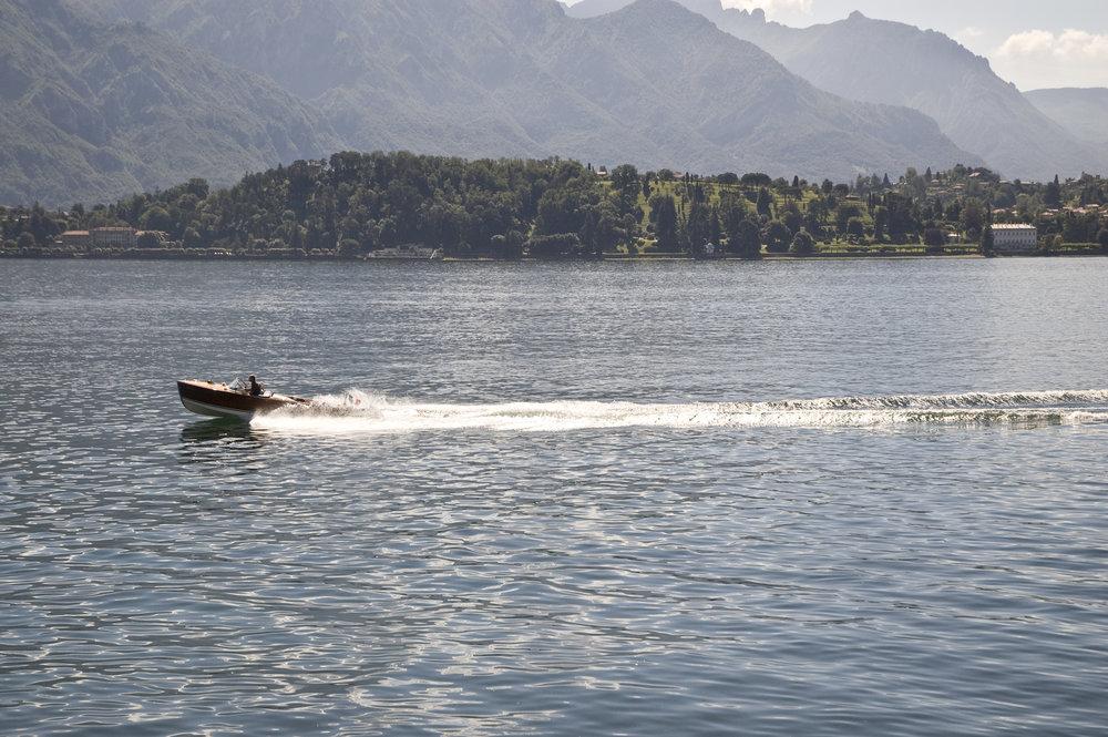 Como Lake and boat