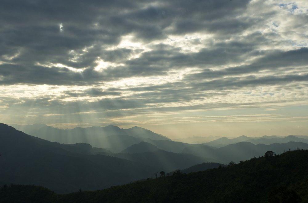 Laos jungle landscape