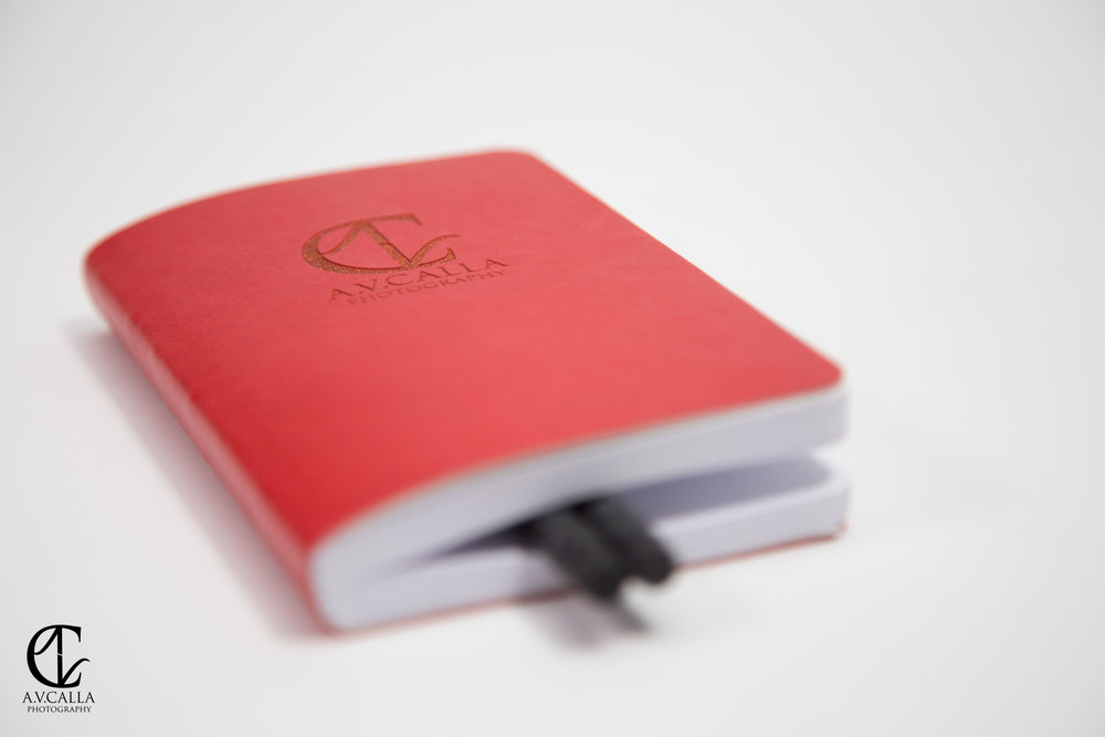 Bridal gift! Premium Italian Leather to-do journals to brides booking our Fantasia Wedding Package.