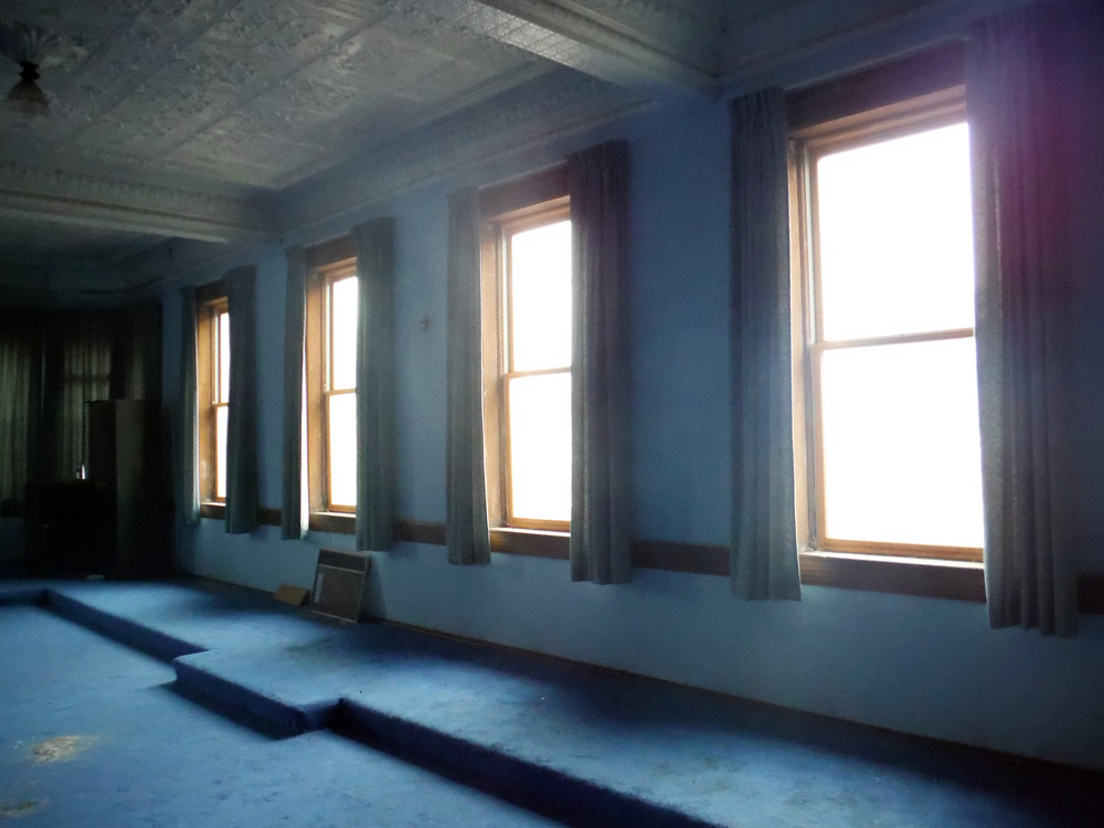 West windows.  Photo by Sydney Haltom, March 2015.