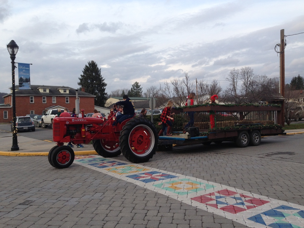 Hayrides were drawn by TCHS student Tanner Burns in his restored 1952 Farmall Tractor.