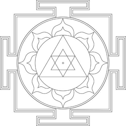 Yantras are ancient mandalas used for prayer and meditation. I like this Ganesha one for relieving obstacles. Just a few minutes a day makes a big difference. More on yantras  here.