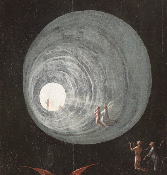 Image: detail of Ascent of the Blessed, Hieronymus Bosch, ca. 1510