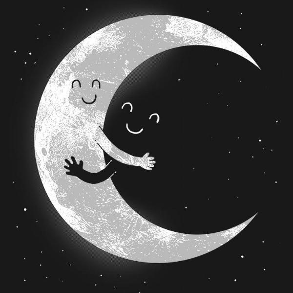 Moon Hug by R. Gegen Noviara