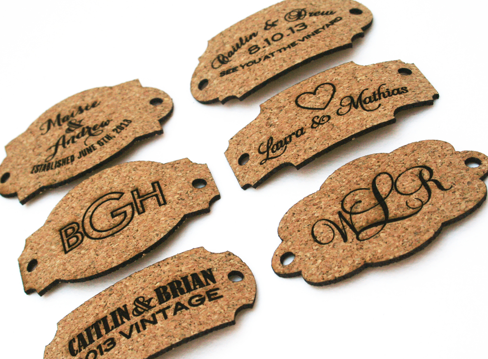 Emmaline Bride showed off our cork tags in November 2013.