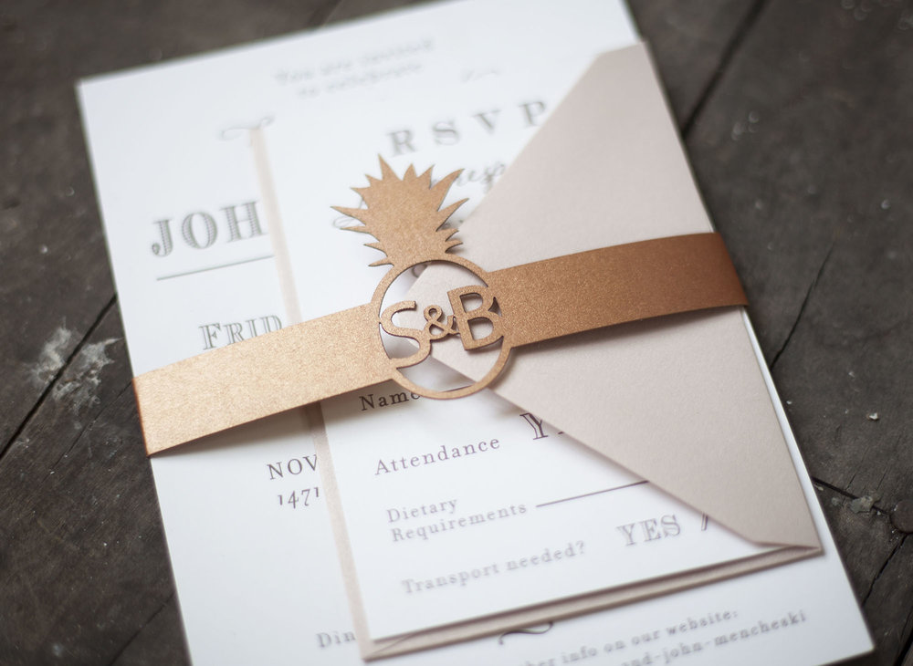 Custom Laser Cut Belly Bands for Wedding Invitations — Sofia ...