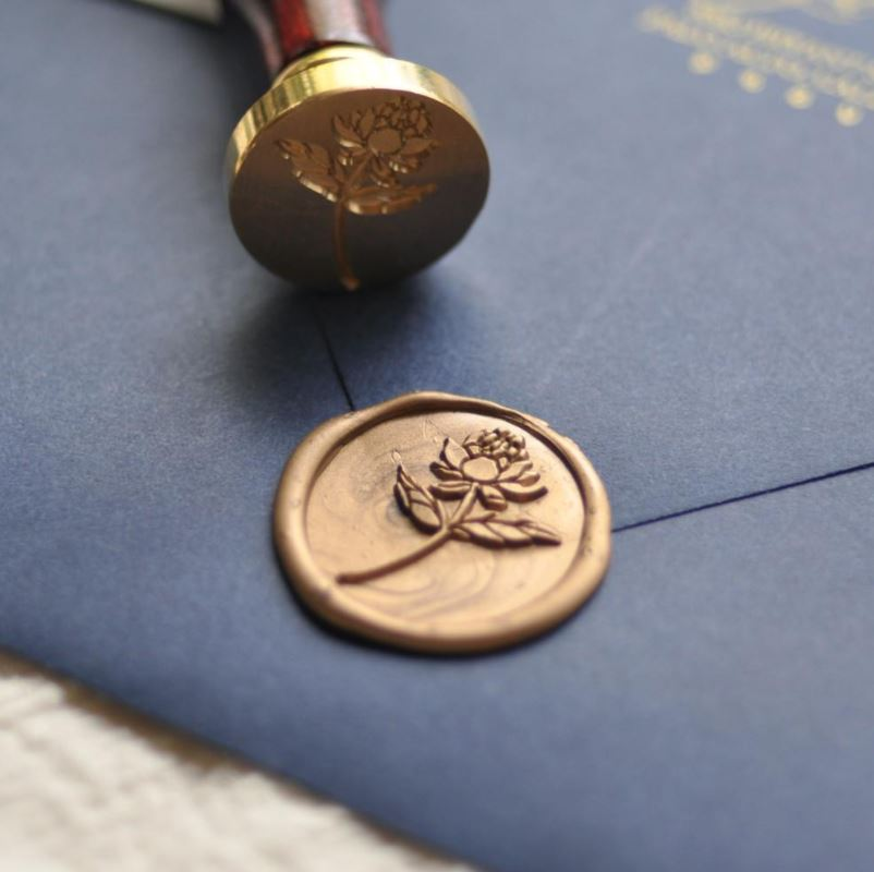 A floral wax seal from  Stamptitude