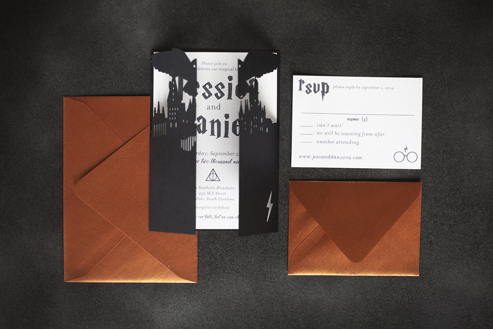 Deathly Hallows Invite