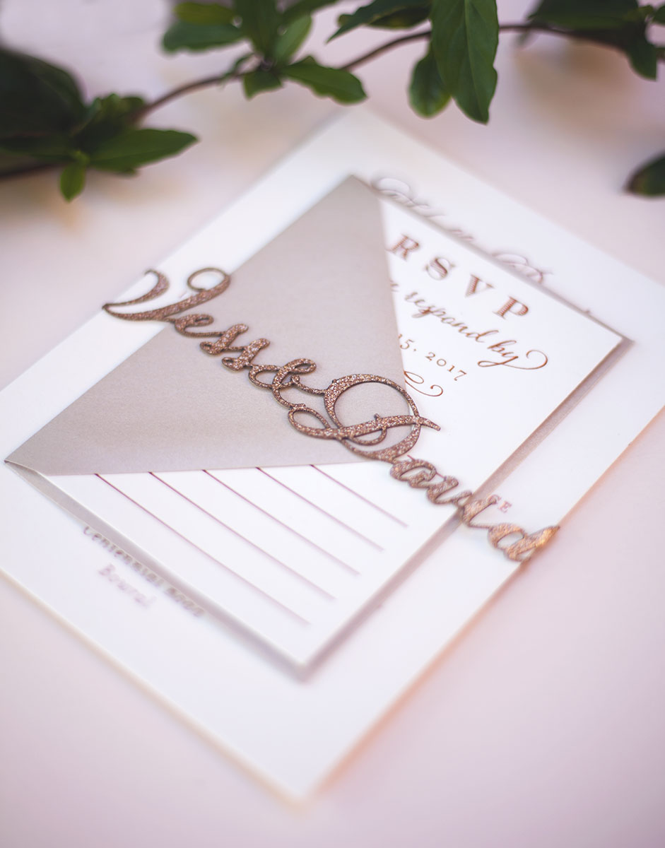 Laser Cut Custom Name Bands - Single Line — Sofia Invitations and Prints