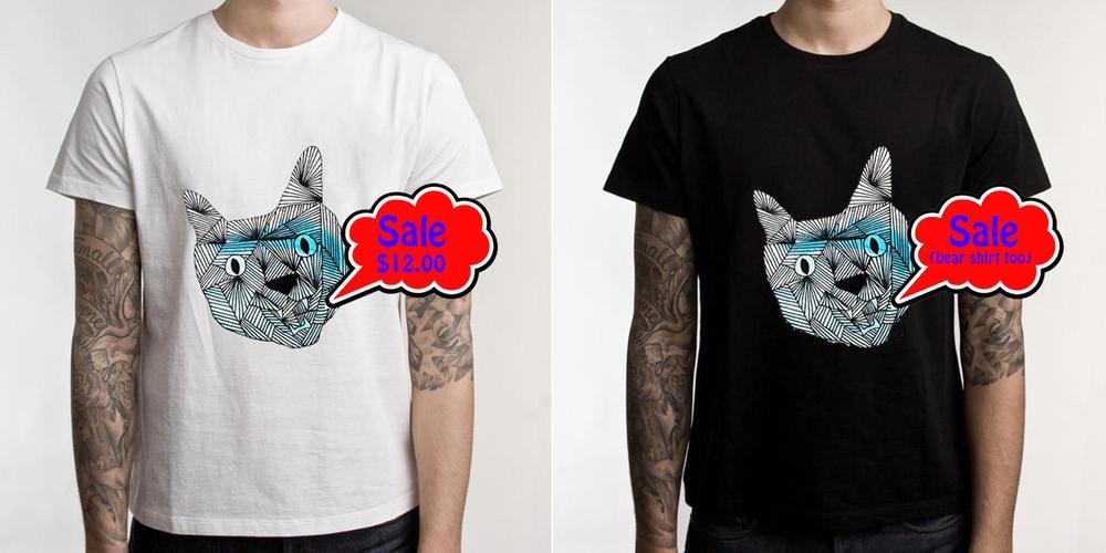 Bear shirt!   Cat shirt!