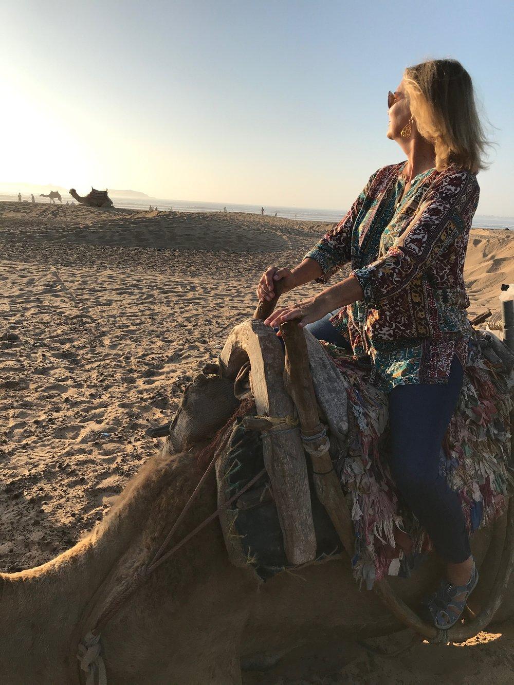 A sunset camel ride in Essaouira