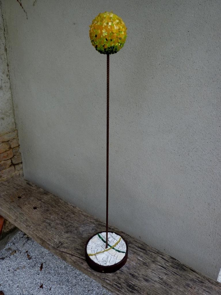 75 cm Verre // métal // marbre