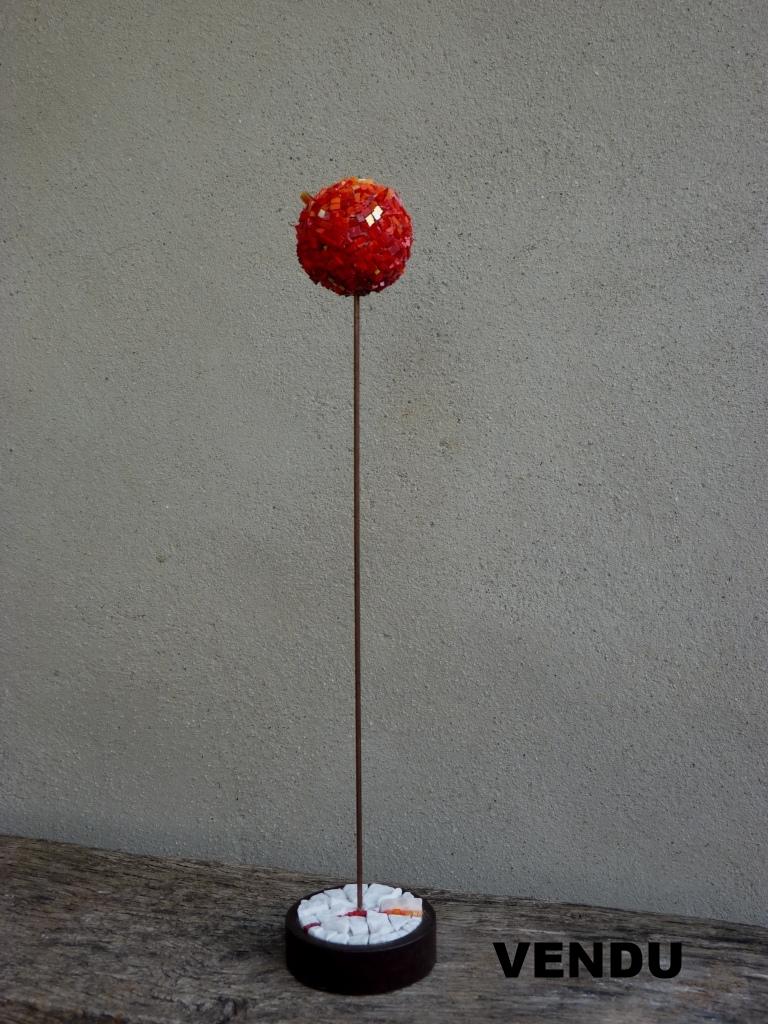 45 cm Verre // métal // marbre