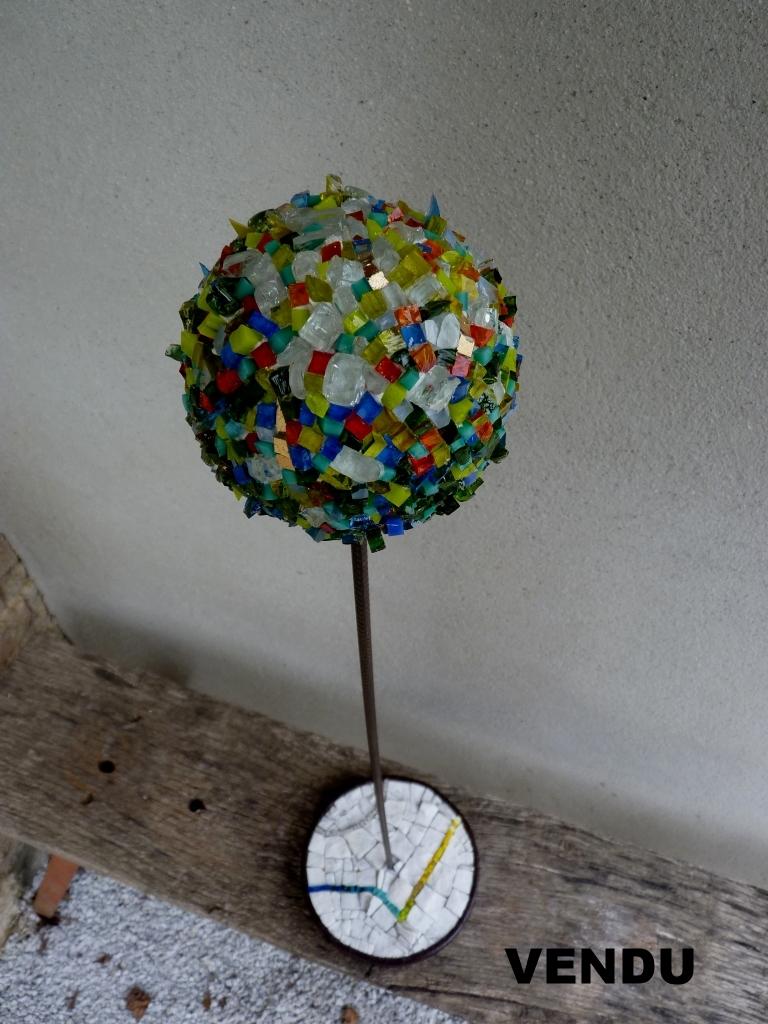 80 cm Verre // métal // marbre // grès