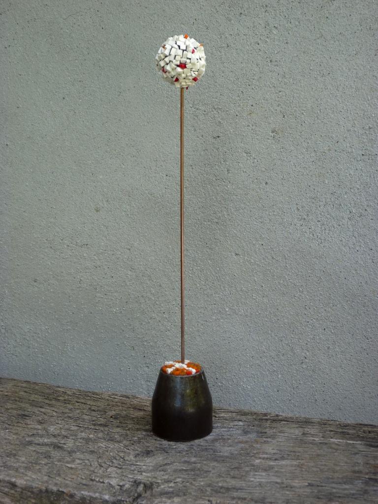 38 cm Smalts vénitiens // grès // métal