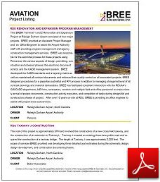 Aviation Project Listing