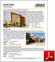 Facilities Project Listing