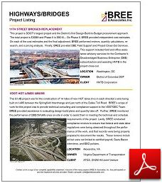 Highways/Bridges Listing
