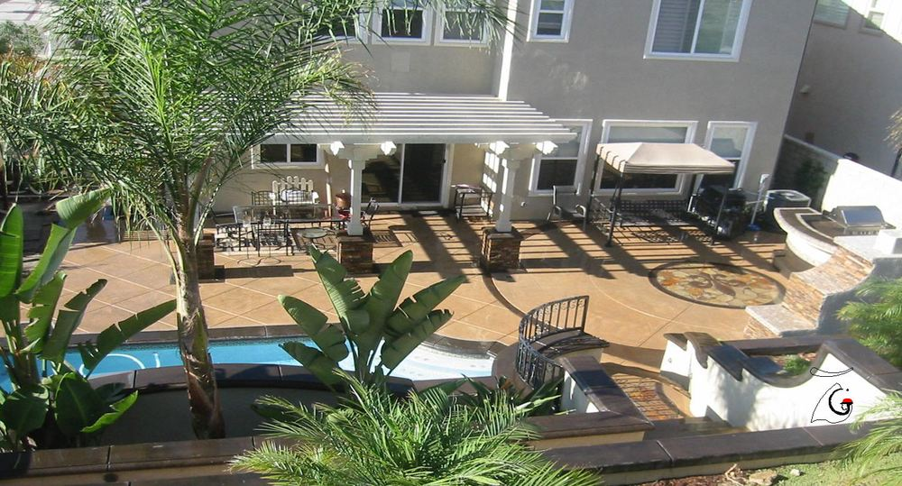 Yorba Linda, Ca -Landscape & Pool -View from Gazebo