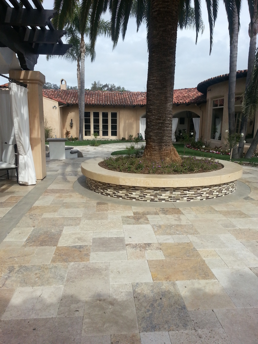 Rancho Santa Fe, Ca -Travertine Pavers