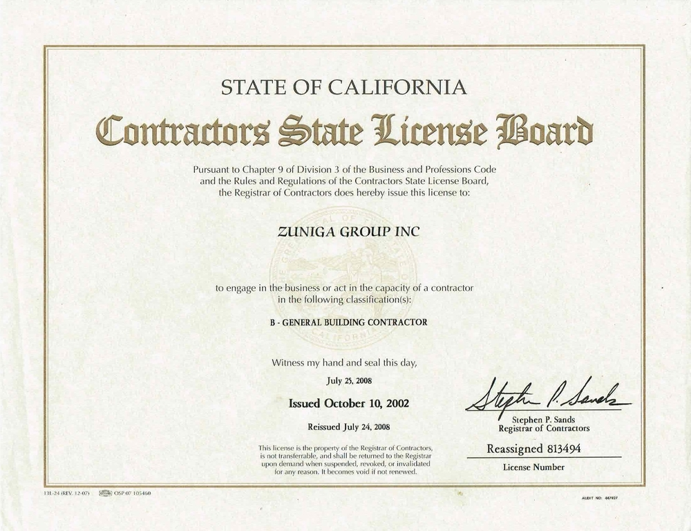 ZUNIGA GROUP STATE LICENSE -PAGE 3