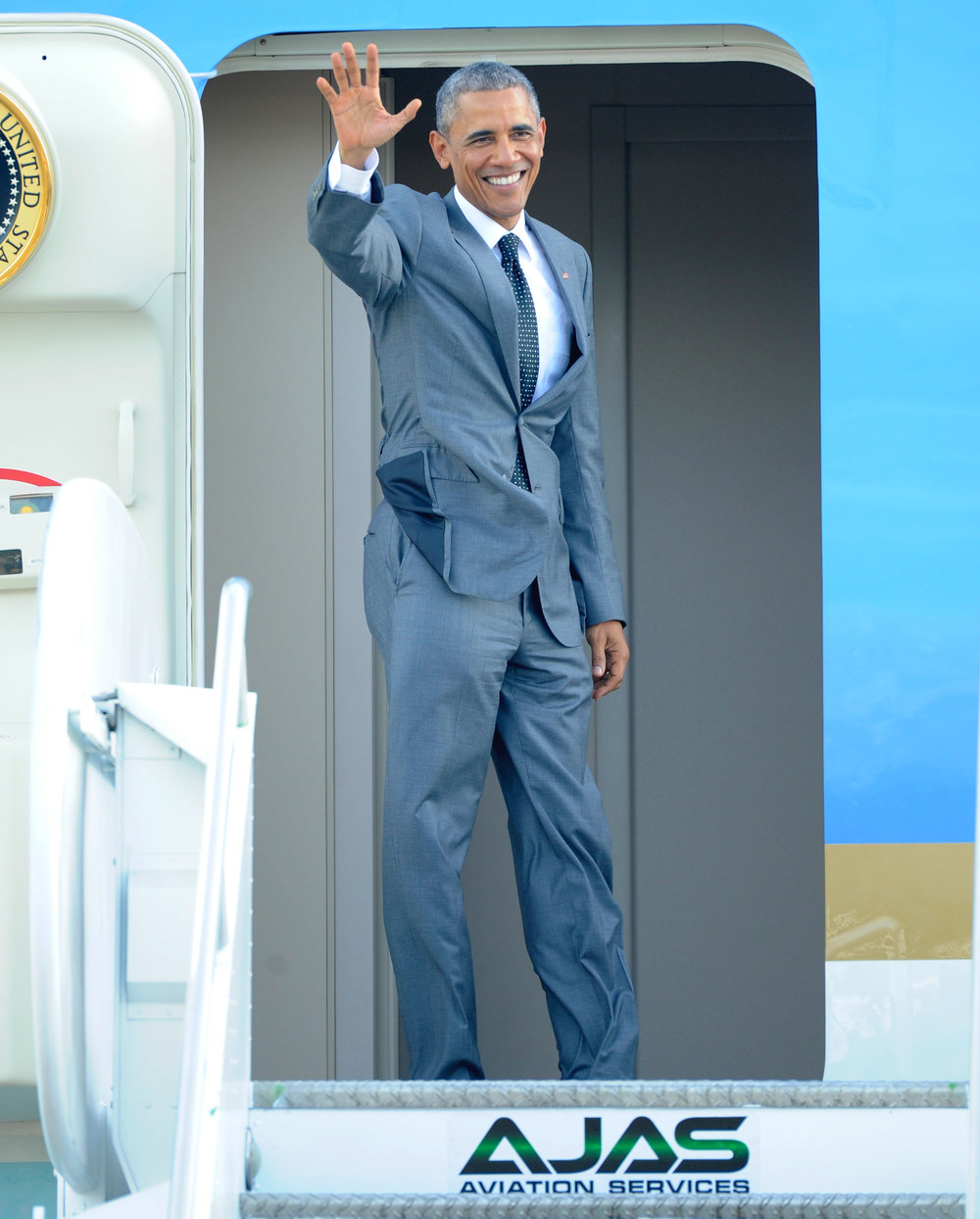 President of the United States Barack Obama during his 2015 visit to Jamaica