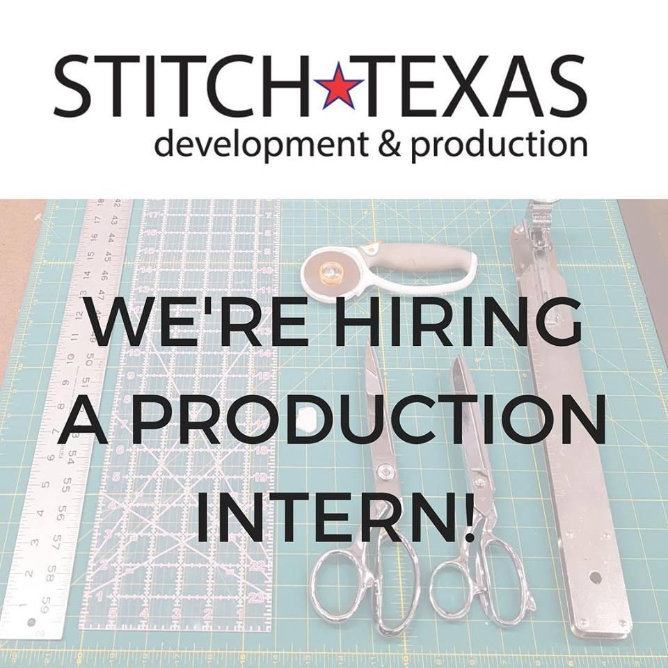 now hiring - paid production intern - stich texas clothing manufacturer - austin tx.jpg