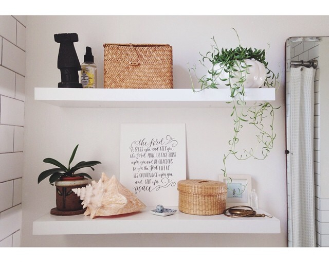 @mimosabyme adorning the shelves of her home with our Lord Bless You & Keep You print
