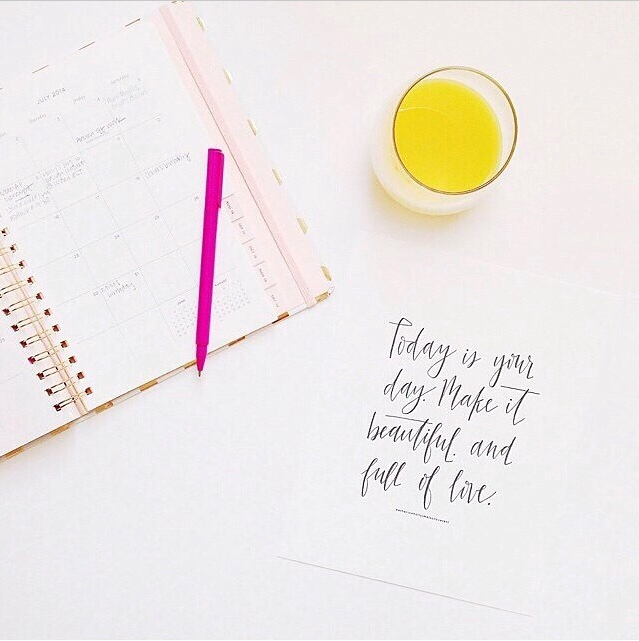 @bonniejoymarie starting her work day with our Today is Your Day print as her motivation