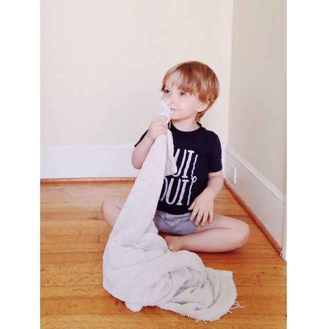 @britneywsmith's little man in our Oui Oui Tee