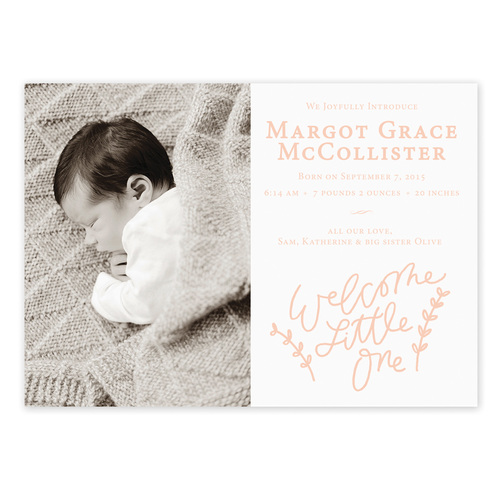 Welcome Little One – Birth Announcement Website