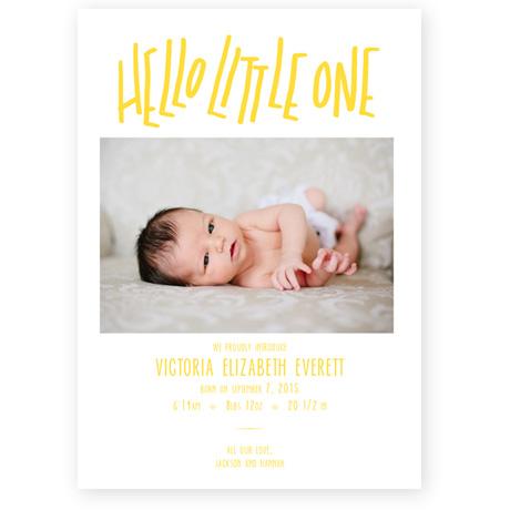 Hello Little One – Birth Announcement Website