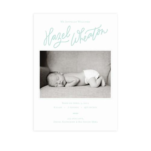 We Joyfully Welcome – Birth Announcement Website