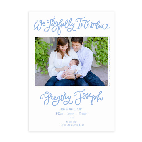We Joyfully Introduce – Birth Announcement Website