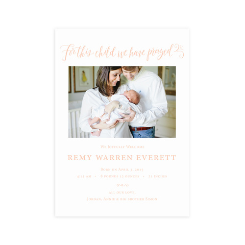 For This Child – Birth Announcement Website