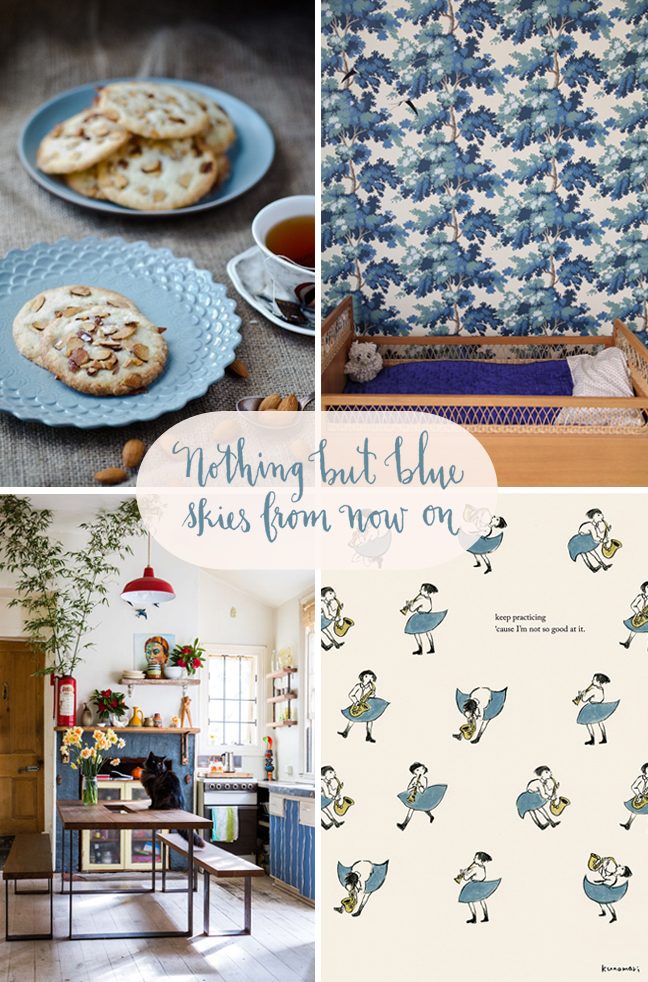 nothing but blue skies from now on, blue skies, blue inspiration, take flight blog, katherineholly