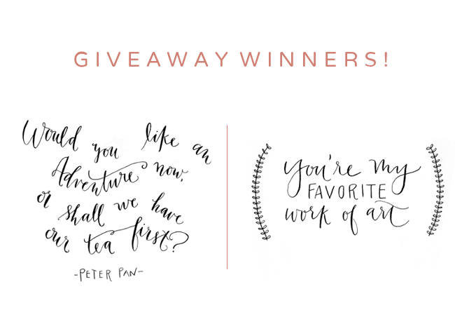 maison everett blog giveaway, peter pan quote, you're my favorite work of art quote, calligraphy quotes by katherine holly