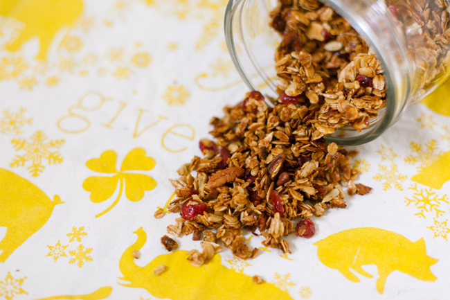 granola recipe, honey almond granola, maison everett blog