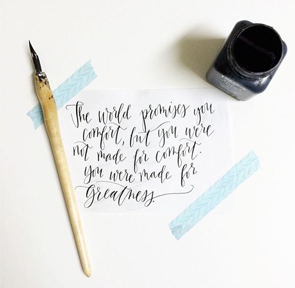 Maison Everett Blog, Katherine Holly Calligraphy