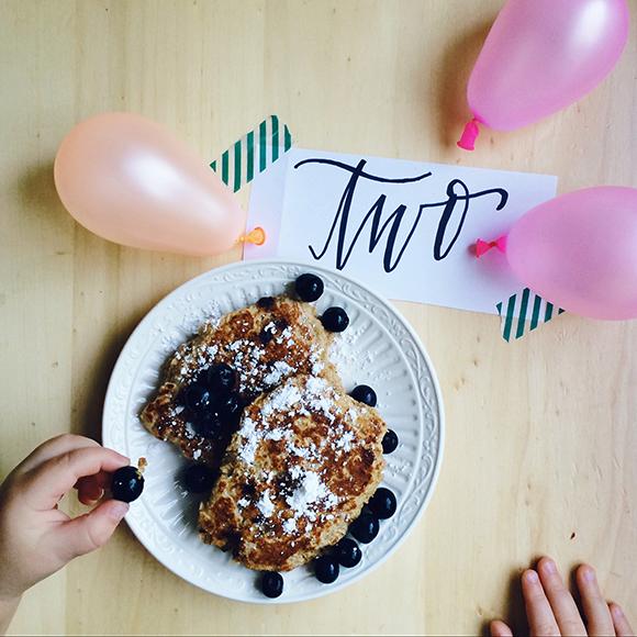 Maison Everett Blog, Birthday Pancakes, Chocolate Chip Pancakes