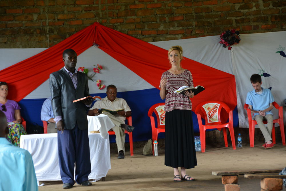 Mari Beth preached at the church, and her translator Moses was incredible
