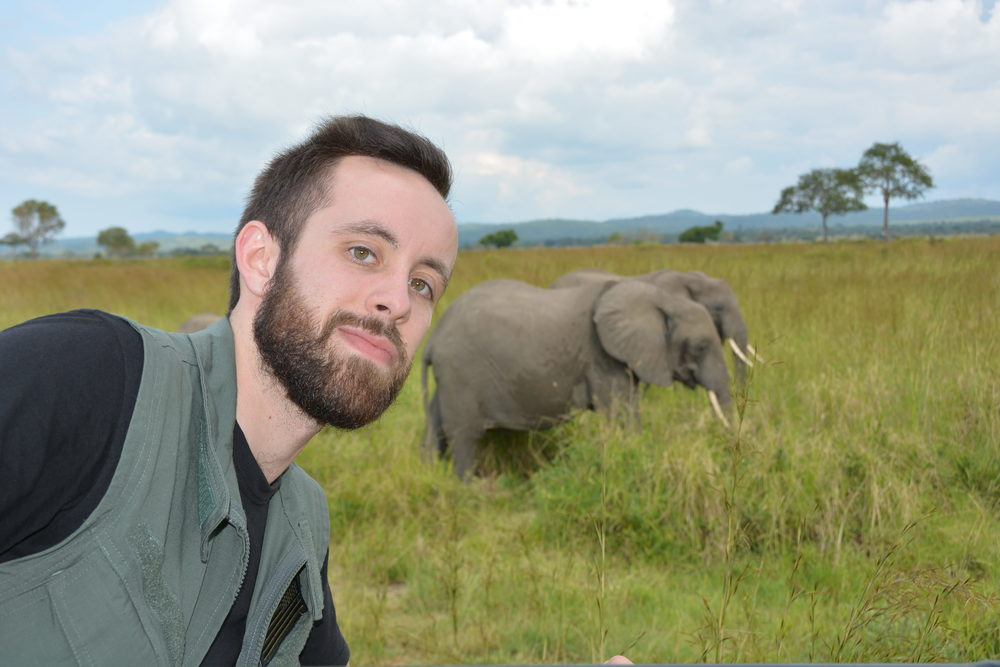 "Danny, Zach, and Jordan can check ""selfie with an elephant"" off of their bucket list"