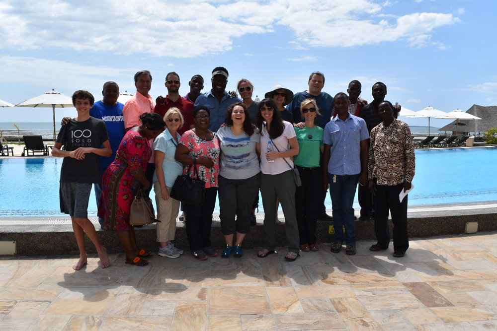 Dream team and our extended Tanzanian family