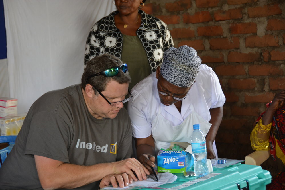 Matt and nurse Monica filling prescriptions
